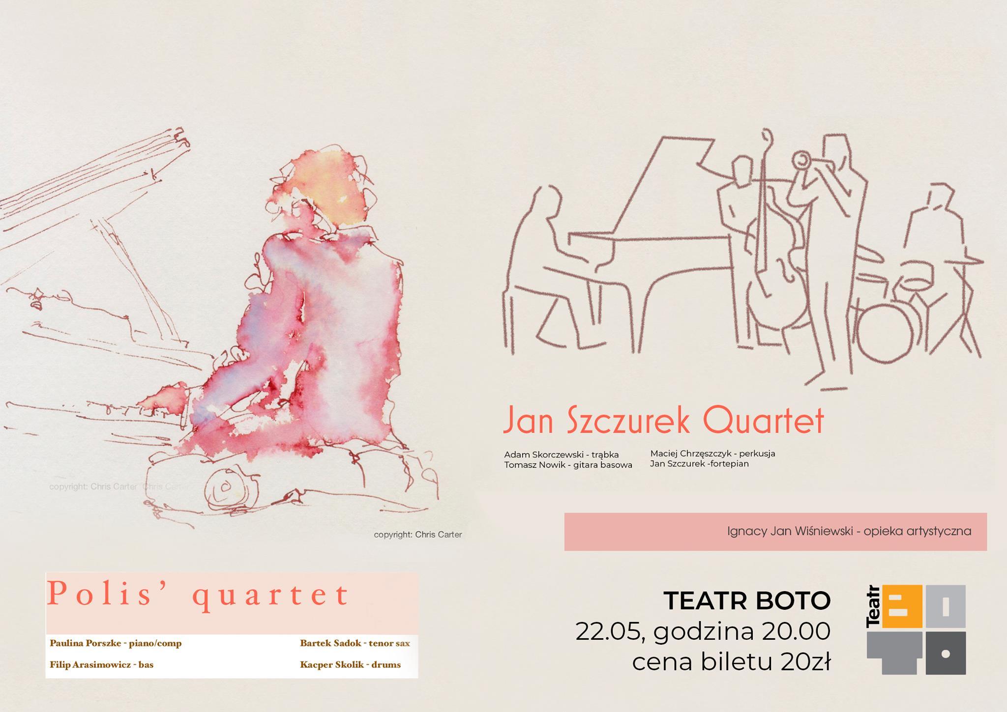 Polis' Quartet oraz Jan Szczurek Quartet / koncert