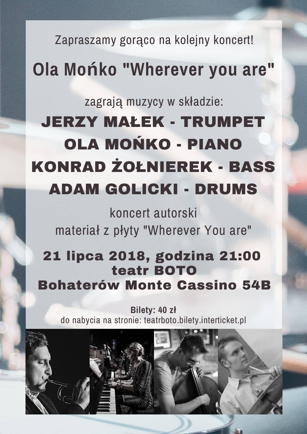 "Ola Mońko ""Wherever you are"""